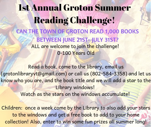 1st Summer Reading Challenge
